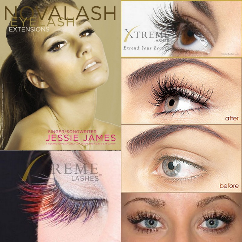 how to put lashes on yourself