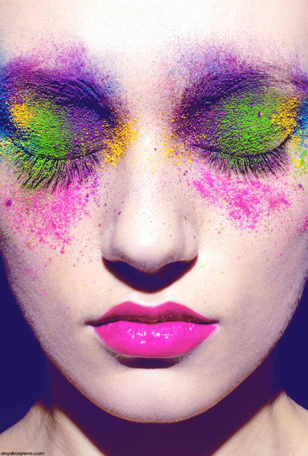Mardi gras eye makeup
