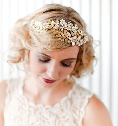 Bridal Inspiration For Short Hair